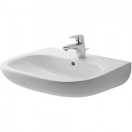 Duravit D-Code 23106000302, Раковина с переливом, цвет белый