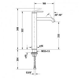 Duravit C.1 C11040002046 Однорычажный смеситель для раковины XL черный