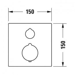 Duravit C.1 C14200013010 Термостат для душа для скрытого монтажа хром