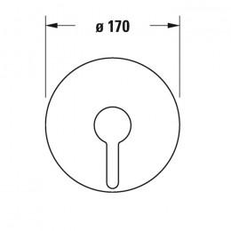 Duravit C.1 C14210010046 Однорычажный смеситель для душа для скрытого монтажа черный