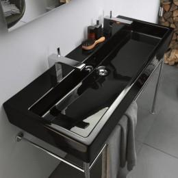 Duravit Vero 0454100826 Раковина шлифованная с переливом 100 см черный