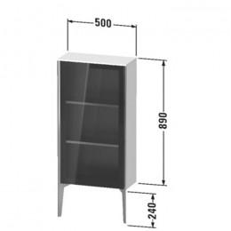 Duravit XVIU XV1361LB221, Шкаф напольный, 89 см, цвет орех/черный