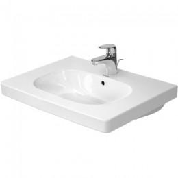Duravit D-Code 03426500002, Раковина с переливом, цвет белый