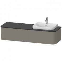 Duravit Happy D.2 Plus HP4944R9292, Тумба подвесная, 160 см, цвет серый камень