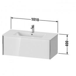 Duravit XVIU XV40270B122, Тумба подвесная, 101 см, цвет белый/шампань