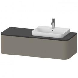 Duravit Happy D.2 Plus HP4932R9292, Тумба подвесная, 130 см, цвет серый камень