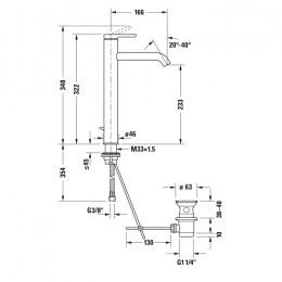 Duravit C.1 C11040001010 Однорычажный смеситель для раковины XL хром