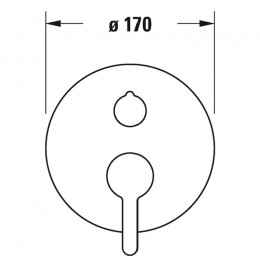 Duravit C.1 C15210012046 Однорычажный смеситель для ванны для скрытого монтажа черный