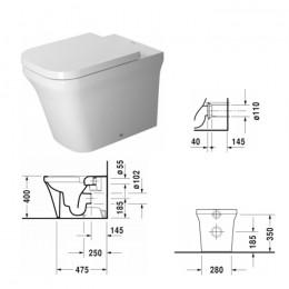 Duravit P3 Comforts Rimless 2166090000, Унитаз напольный, цвет белый