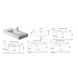 Duravit Vero 0329100860 Раковина 105 см черный