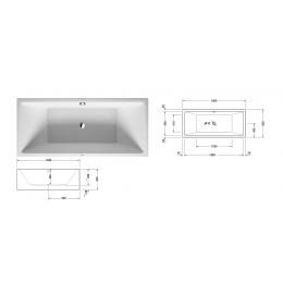 Duravit Vero Air 700415000000000 Ванна левосторонняя 180 см белый