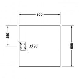 Duravit Stonetto 720146680000000, Поддон квадратный, цвет антрацит