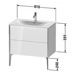 Duravit XVIU XV43020B122, Тумба напольная, 81 см, цвет белый/шампань