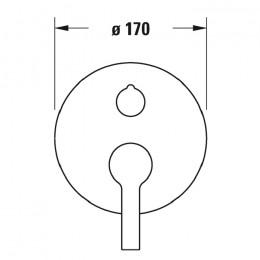 Duravit B.2 B25210018010, Смеситель для ванны, цвет хром
