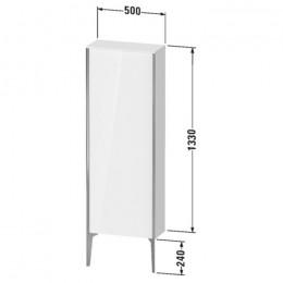 Duravit XVIU XV1316LB221, Шкаф напольный, 133 см, цвет орех/черный
