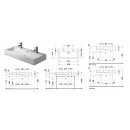 Duravit Vero 0454100043 Раковина без перелива 100 см белый