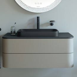 Duravit Happy D.2 Plus HP497109292, Тумба подвесная, 100 см, цвет серый камень