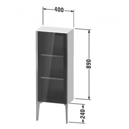 Duravit XVIU XV1360RB122, Шкаф напольный, 89 см, цвет белый/шампань