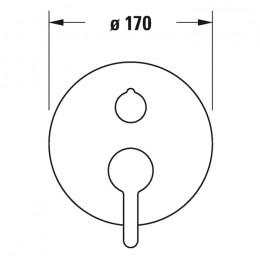 Duravit C.1 C14210012046 Однорычажный смеситель для душа для скрытого монтажа черный