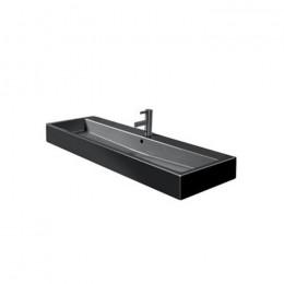 Duravit Vero 0454120827 Раковина шлифованная с переливом 120 см черный