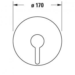 Duravit C.1 C14210010010 Однорычажный смеситель для душа для скрытого монтажа хром