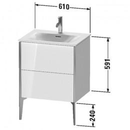 Duravit XVIU XV43000B122, Тумба напольная, 61 см, цвет белый/шампань