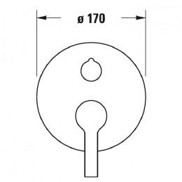 Duravit B.2 B24210012010, Смеситель для душа, цвет хром