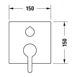 Duravit C.1 C15210017010 Однорычажный смеситель для ванны для скрытого монтажа черный