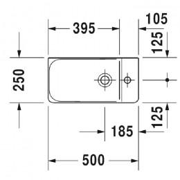 Duravit P3 Comforts 0715500070, Раковина без перелива, цвет белый