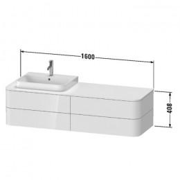Duravit Happy D.2 Plus HP4973R9292, Тумба подвесная, 160 см, цвет серый камень