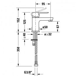 Duravit A.1 A11010002010, Смеситель для раковины, цвет хром