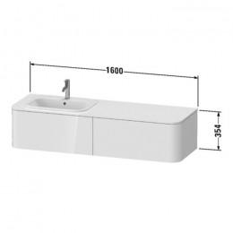 Duravit Happy D.2 Plus HP4954R9292, Тумба подвесная, 160 см, цвет серый камень