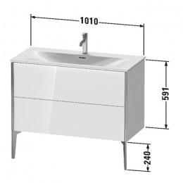 Duravit XVIU XV43030B122, Тумба подвесная, 101 см, цвет белый/шампань