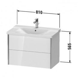 Duravit XVIU XV41160B122, Тумба подвесная, 81 см, цвет белый/шампань