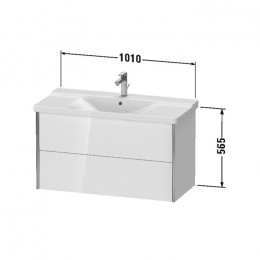 Duravit XVIU XV41170B122, Тумба подвесная, 101 см, цвет белый