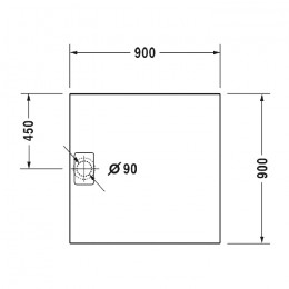 Duravit Stonetto 720146180000000, Поддон квадратный, цвет бетон