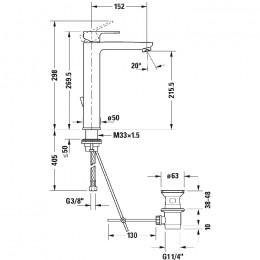 Duravit B.3 B31030001010, Смеситель для раковины, цвет хром