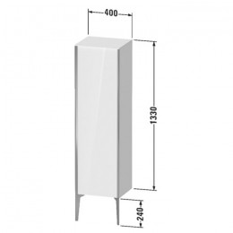 Duravit XVIU XV1325RB122, Шкаф напольный, 133 см, цвет белый/шампань