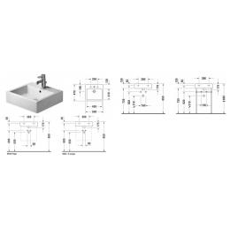Duravit Vero 0454500073 Раковина шлифованный без перелива 50 см белый