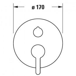 Duravit C.1 C15210012010 Однорычажный смеситель для ванны для скрытого монтажа хром