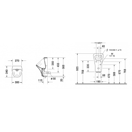 Duravit DuraStyle 2806310097 Писсуар 30 см белый