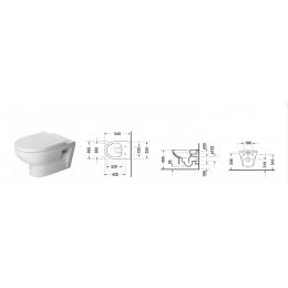 Duravit DuraStyle 45620900A1 (256209+002079), Комплект: унитаз+сиденье, цвет белый