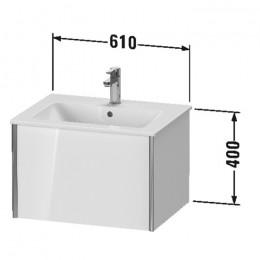 Duravit XVIU XV40250B122, Тумба подвесная, 61 см, цвет белый/шампань