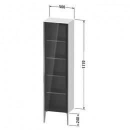 Duravit XVIU XV1376LB221, Шкаф напольный, 177 см, цвет орех/черный