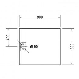 Duravit Stonetto 720145680000000, Поддон прямоугольный, цвет антрацит