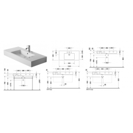 Duravit Vero 0329100030 Раковина 105 см белый