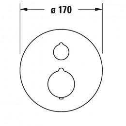 Duravit C.1 C14200016046 Термостат для душа для скрытого монтажа черный
