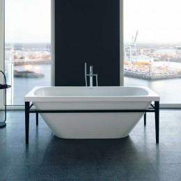Duravit XVIU 700444000B20000 Ванна акриловая 160 см белый/черный