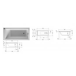 Duravit Starck 700331000000000 Ванна акриловая 150 см белый