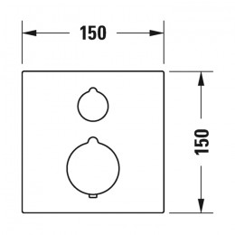 Duravit C.1 C14200015010 Термостат для душа для скрытого монтажа хром